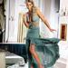 Dámske spoločenské háčkované šaty